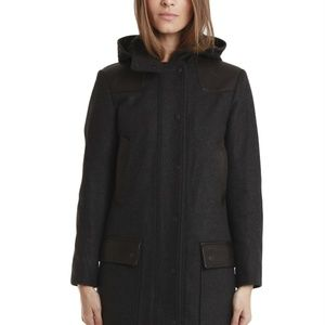 "Rag and Bone Wool and Leather ""Beacon"" coat"